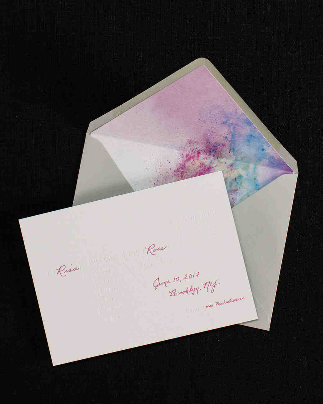 risa ross wedding brooklyn new york invitation