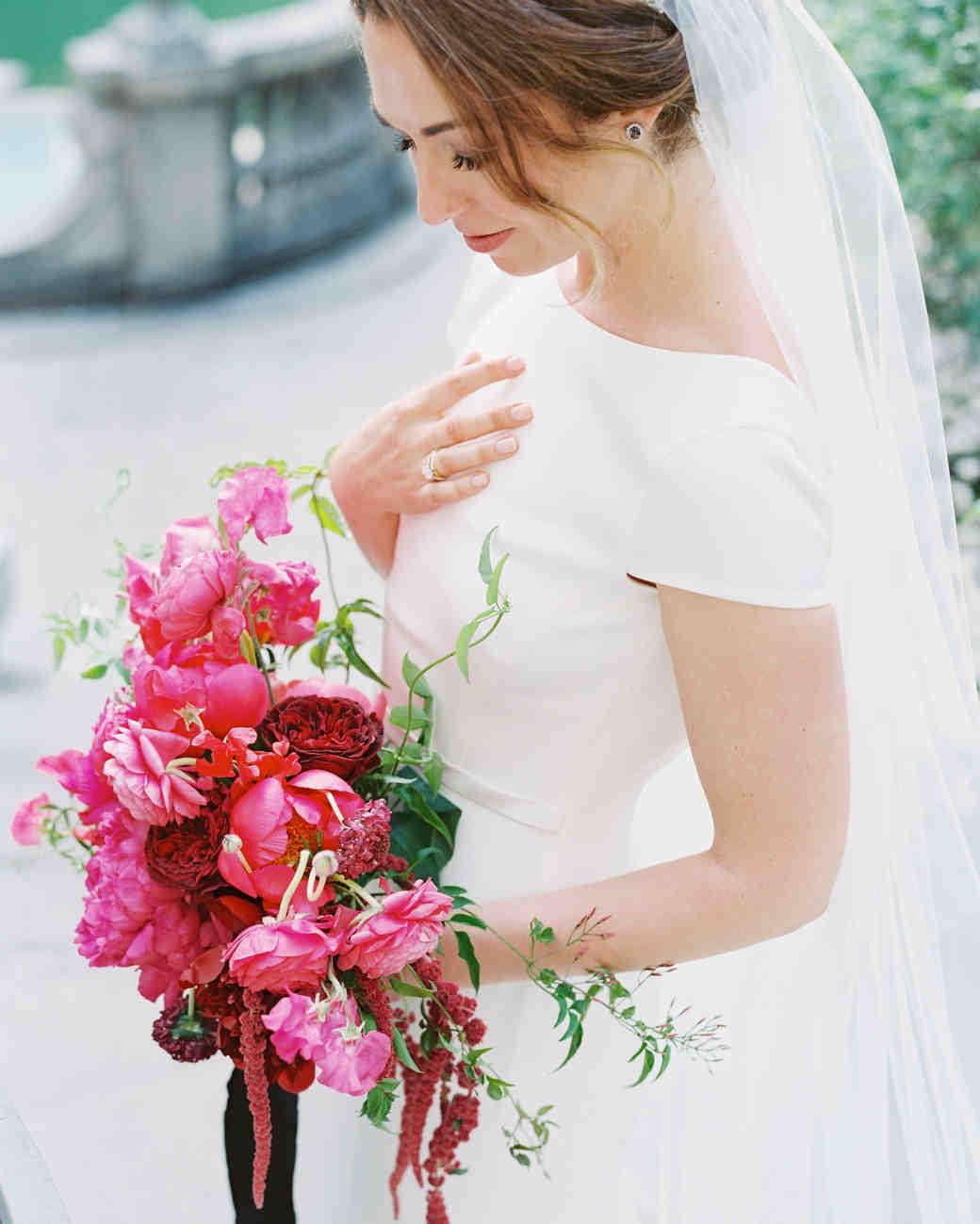 Bride Wearing Subtle Earrings