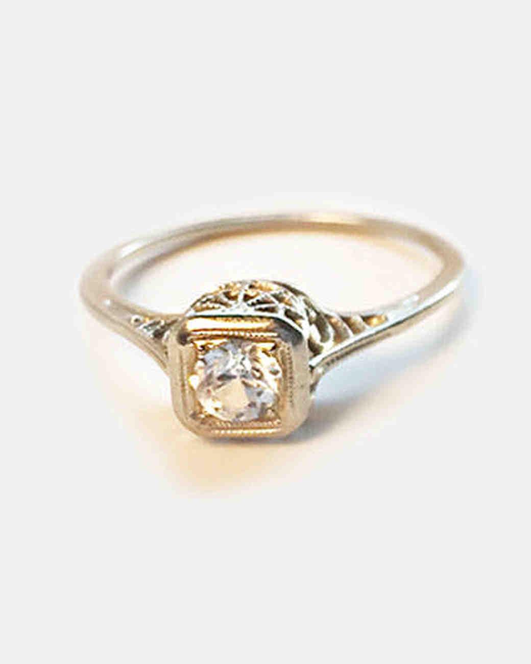 Stone Fox Bride antique diamond engagement ring