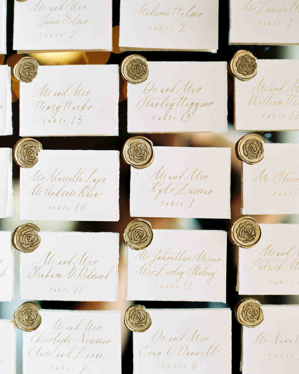 amanda william wedding tennessee escort cards wax seal