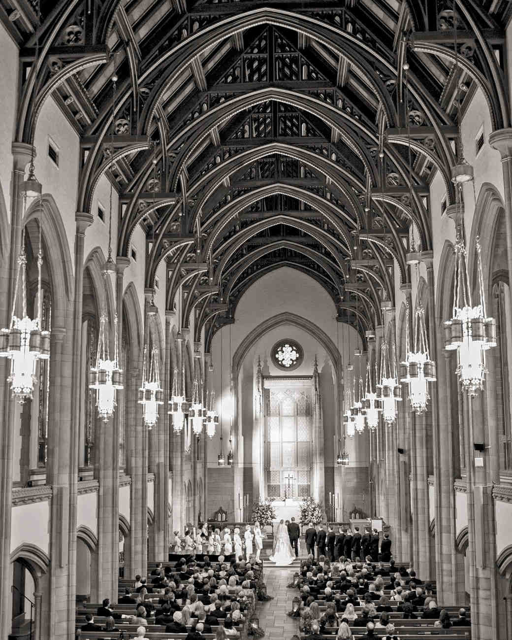 church high ceiling ceremony