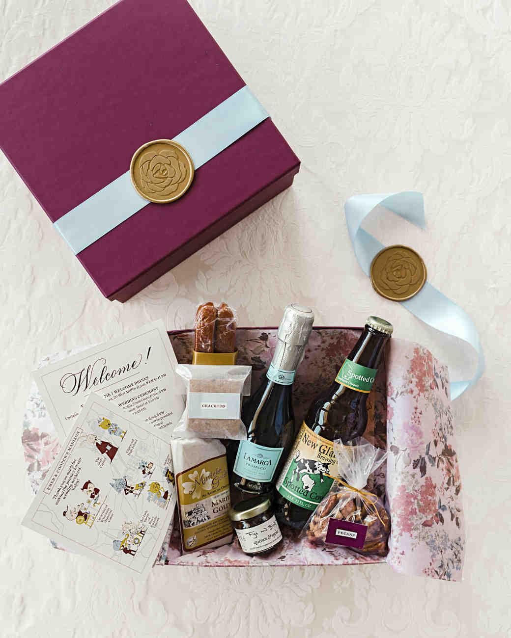 emer cooper wedding wisconsin welcome treat box