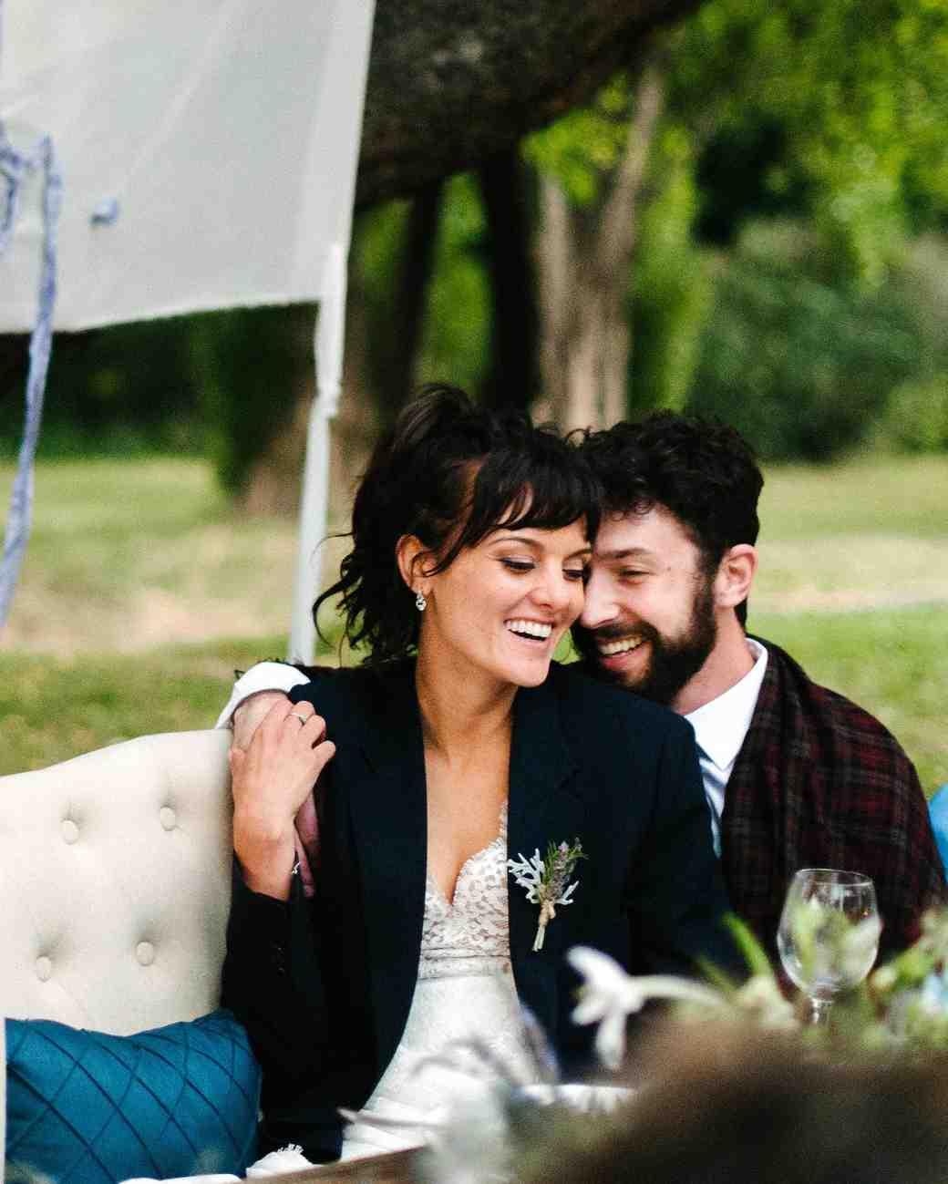 wedding couple loveseat