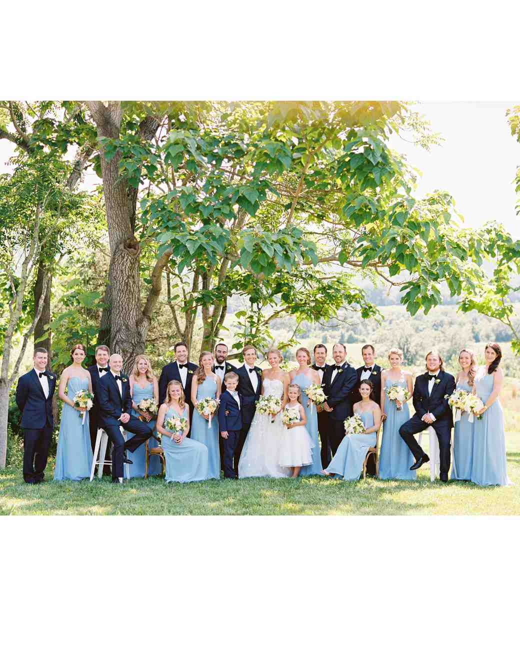 hannah chris wedding north garden va bridal party