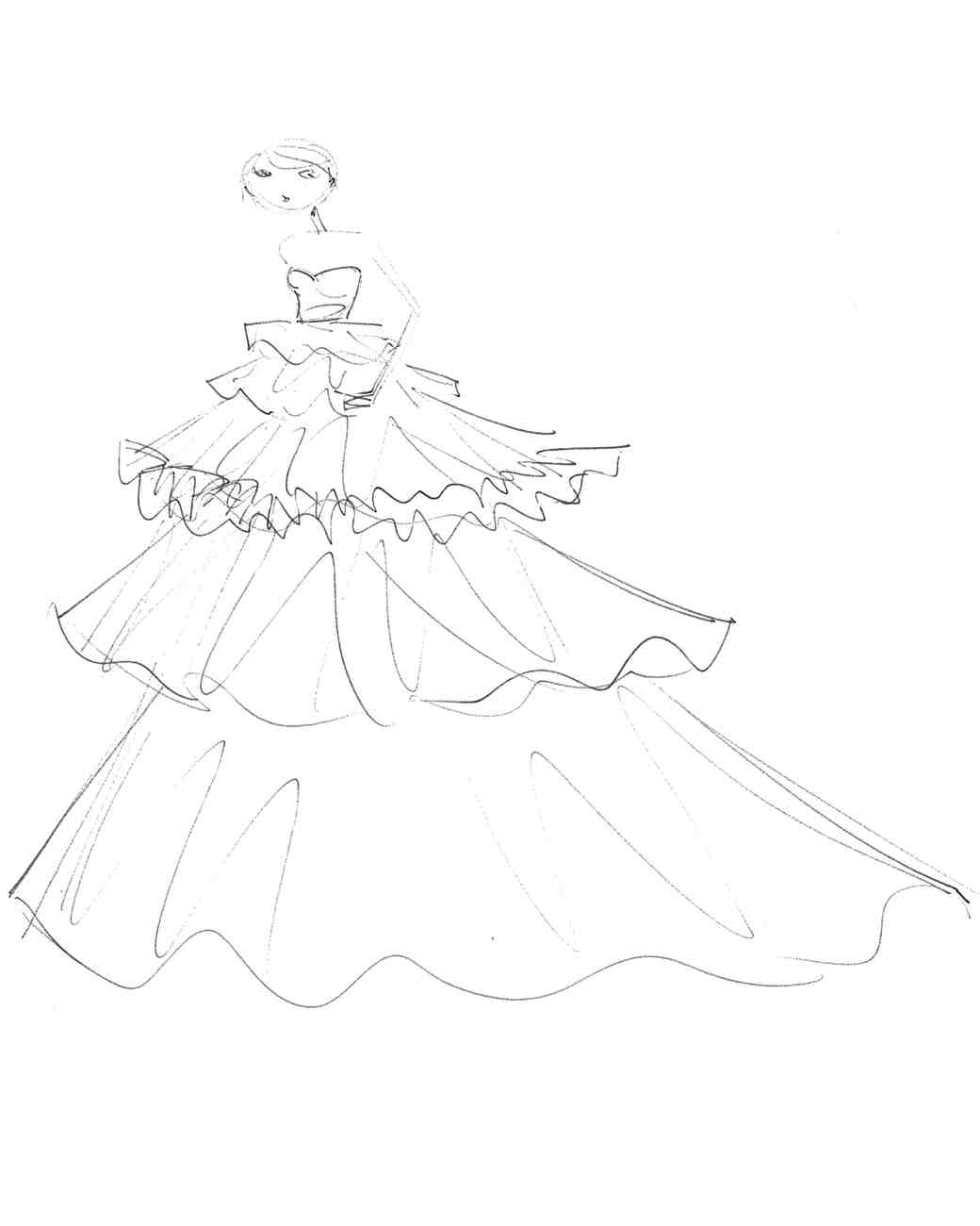 viktor and rolf wedding dress sketch