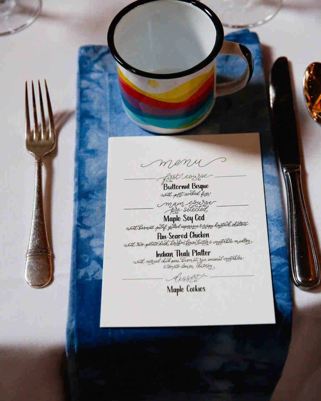 tory jonathan wedding reception menu