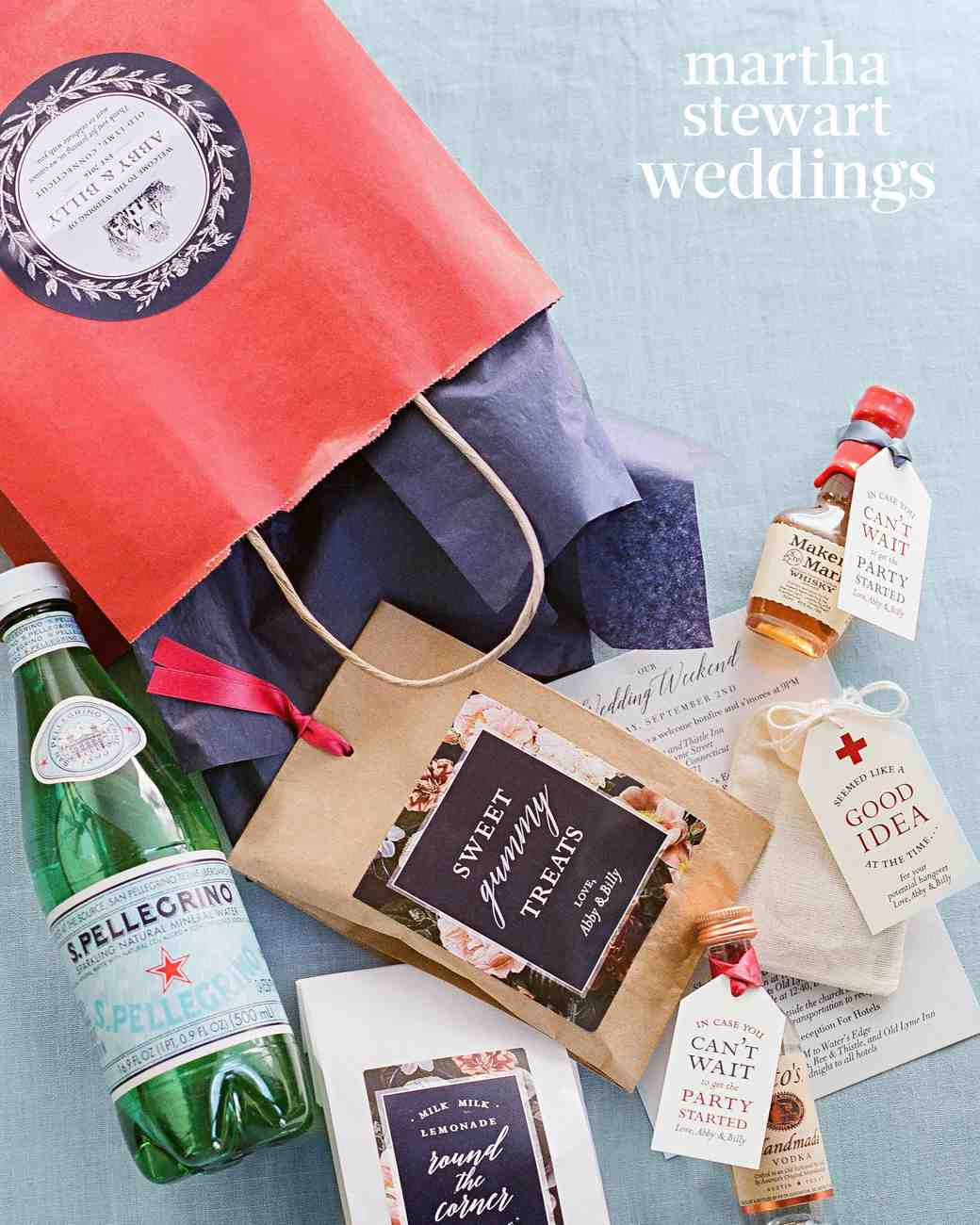 abby elliott bill kennedy wedding welcome bag