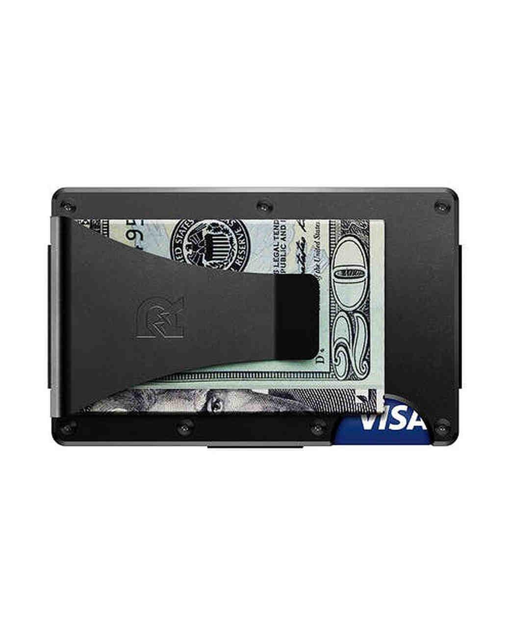 aluminum anniversary gift wallet clip