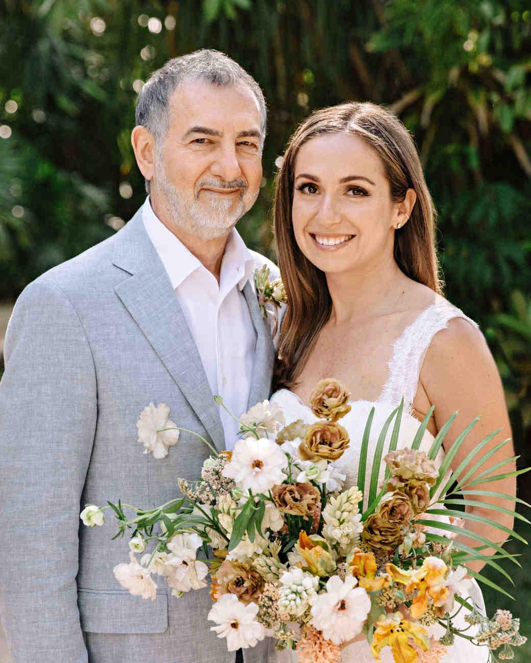 ariel trevor wedding tulum mexico bride dad