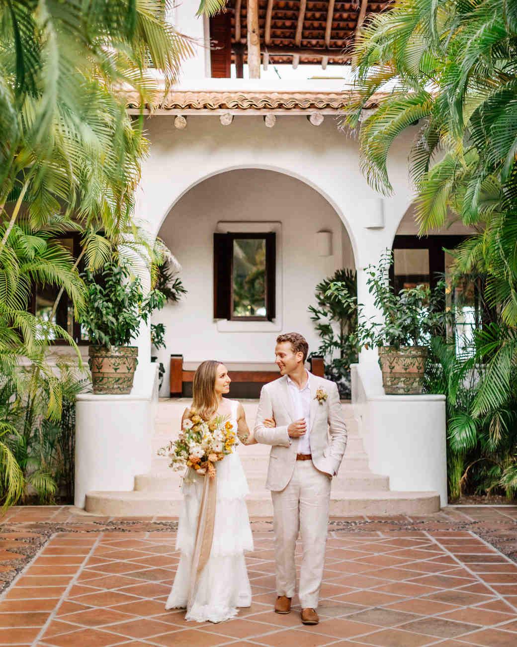 Ariel Trevor Wedding Tulum Mexico Walking