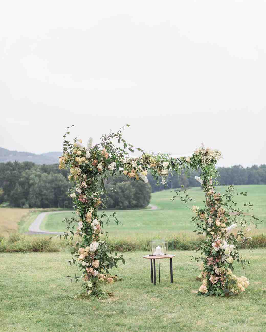 ashley samantha wedding cornwall ny ceremony arch