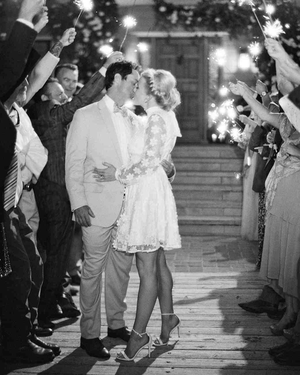 bessie john wedding sparkler sendoff