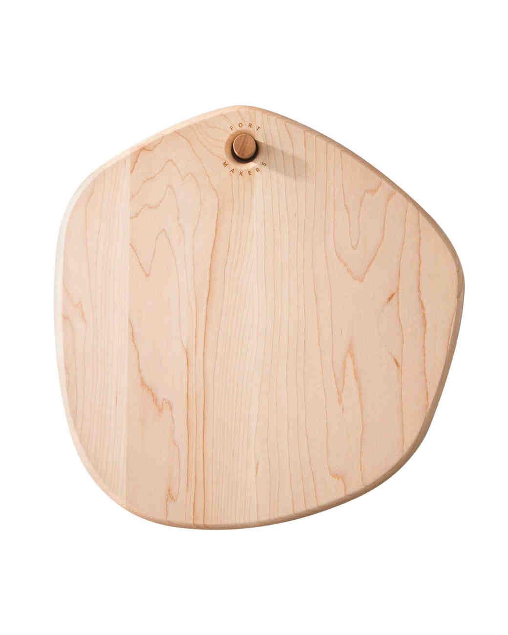 hand crafted asymmetrical cutting board