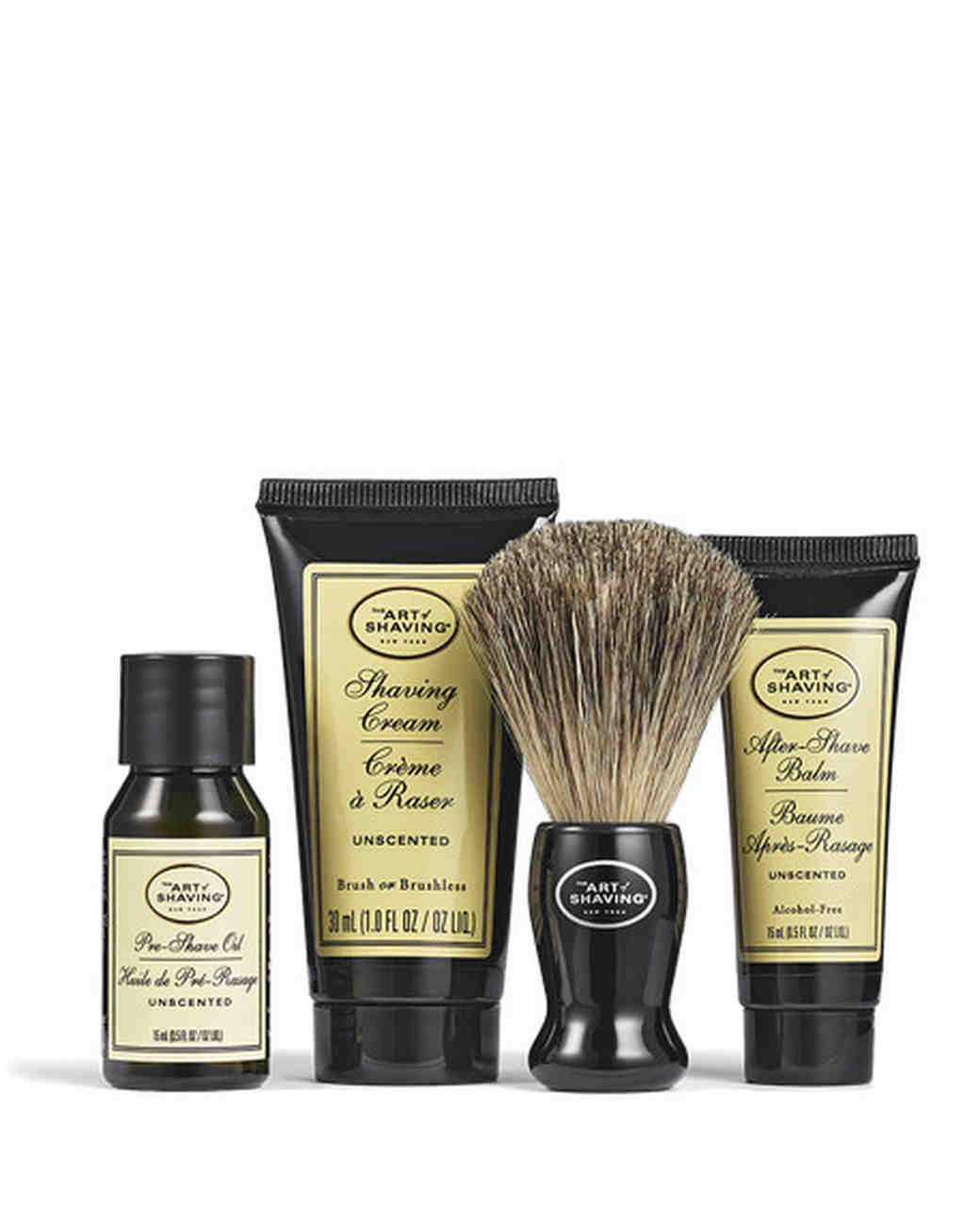 groomsmen gift guide art of shaving unscented starter kit