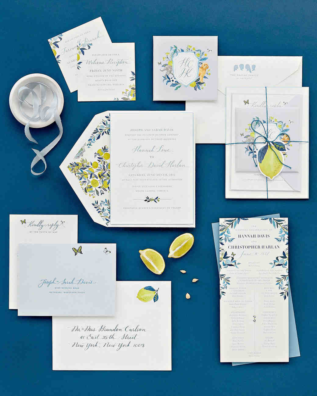 hannah chris wedding north garden va stationery suite