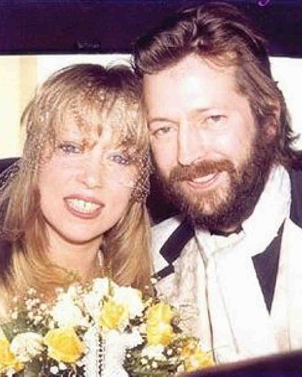 Pattie Boyd and Eric Clapton Wedding Photo