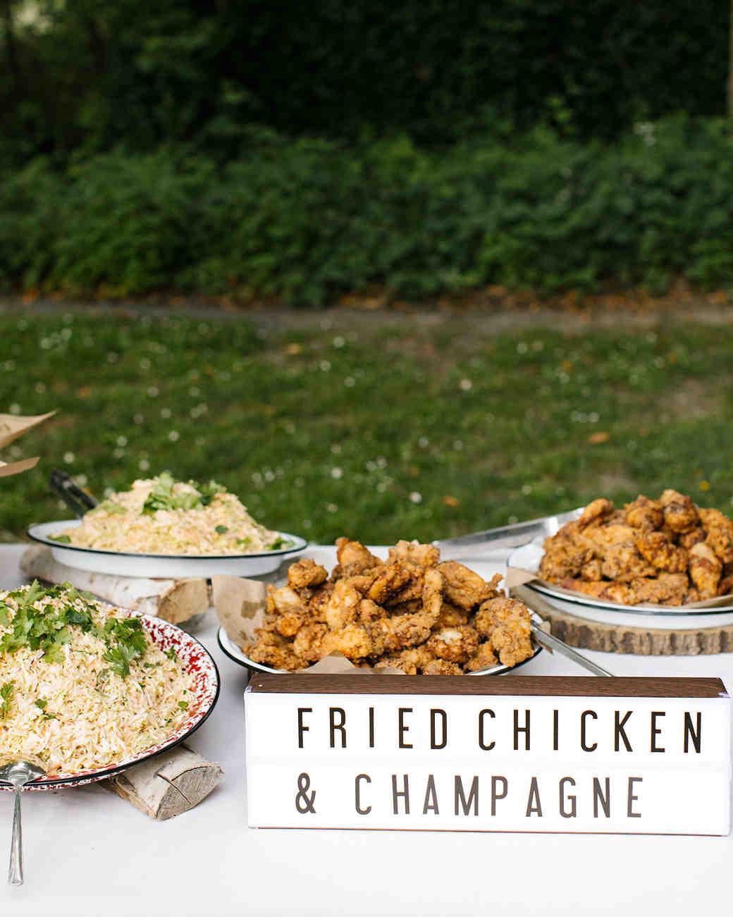 kendall jackson rehearsal dinner fried chicken