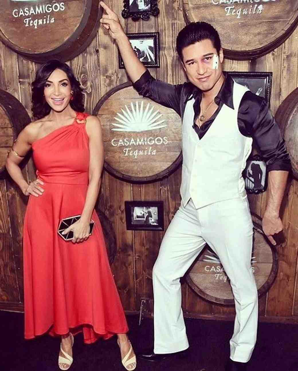 Mario Lopez and Courtney Lopez Halloween 2016 Couples Costume