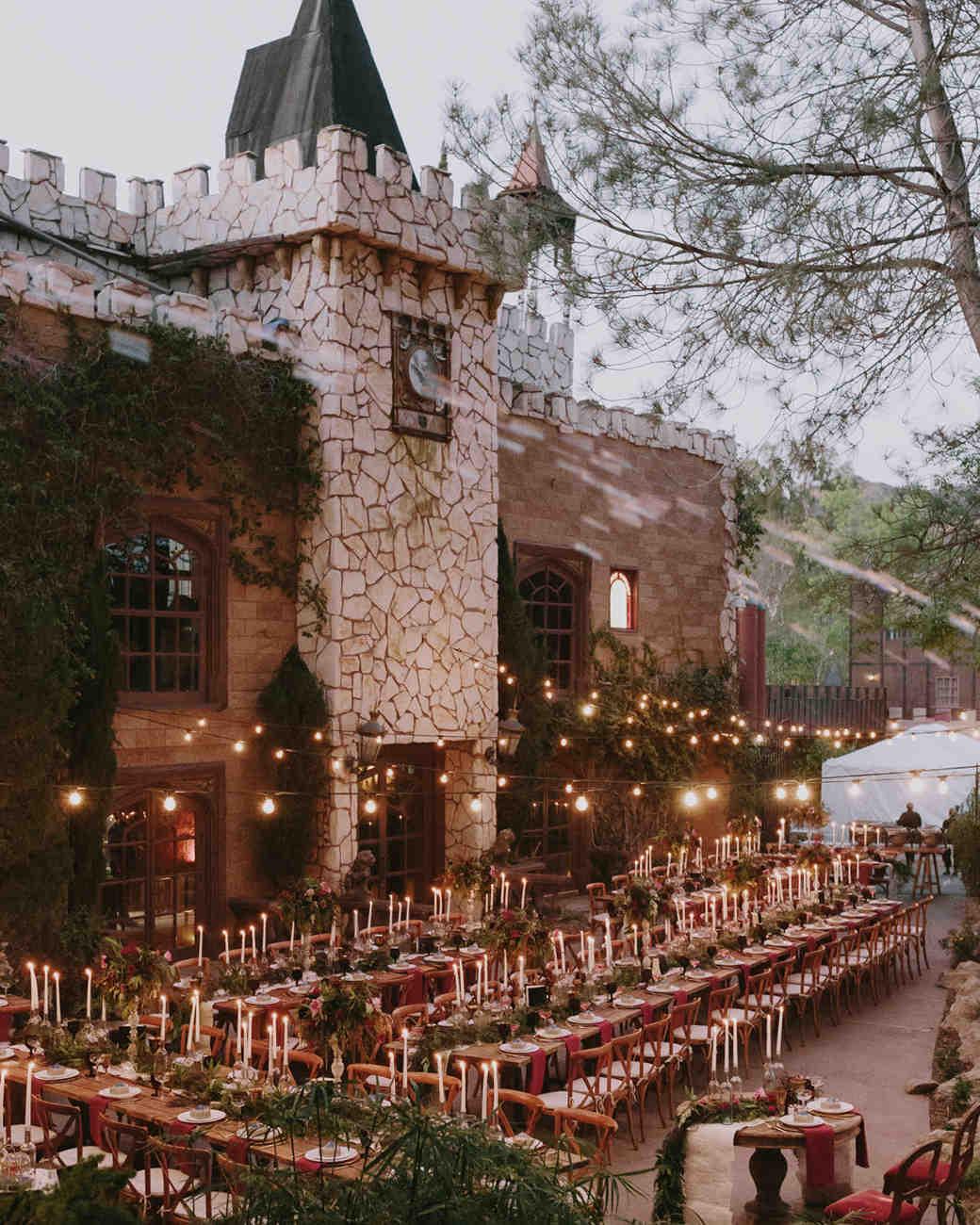 Hogwarts inspired wedding venue and decor