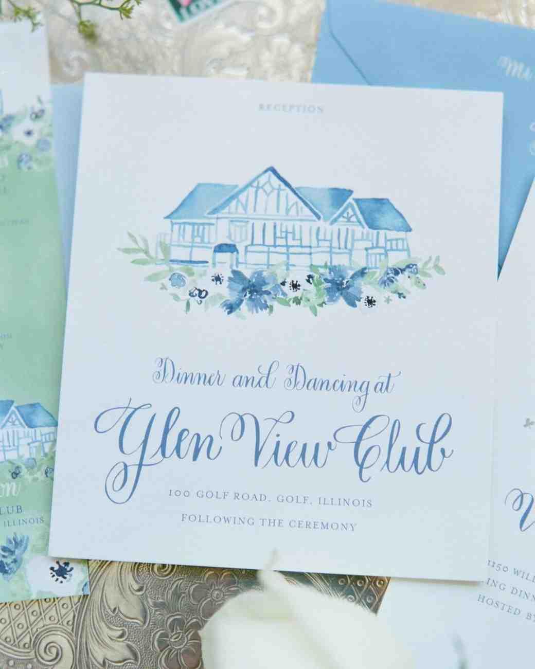 blue invitations