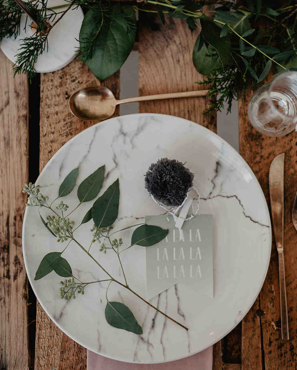 winter bridal shower shoot julia garcia prat marble plate