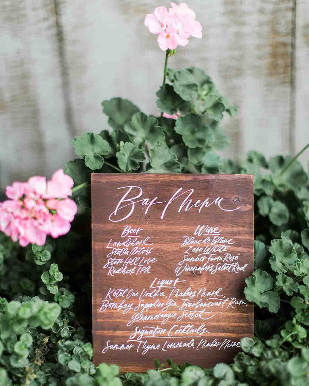 after party decor wooden calligraphy bar sign