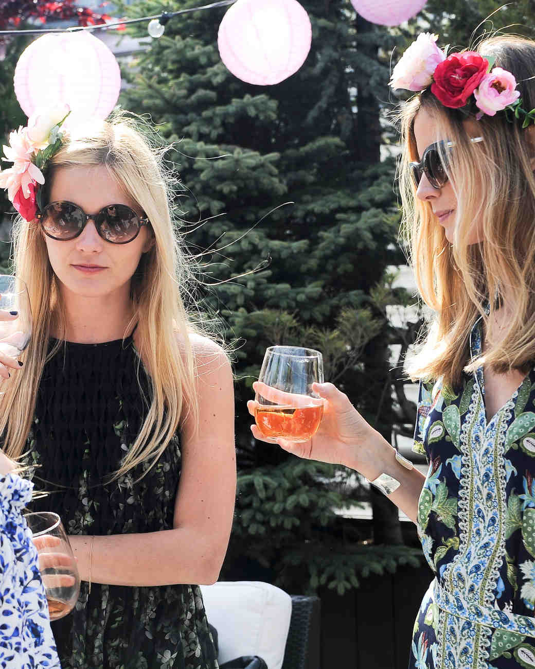 Guests Wearing Sunglasses and Mingling at Annie Atkinson's Bridal Shower