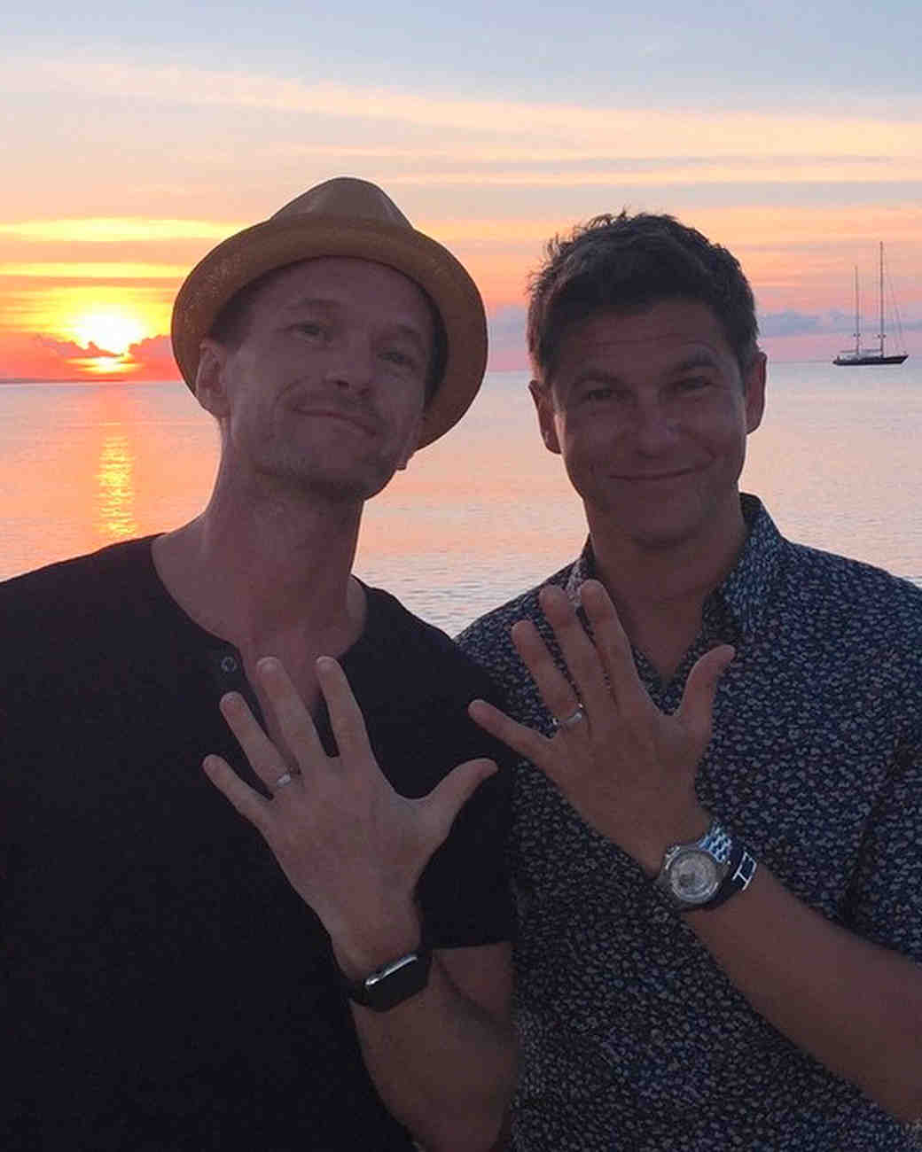Neil Patrick Harris and David Burtka wedding bands