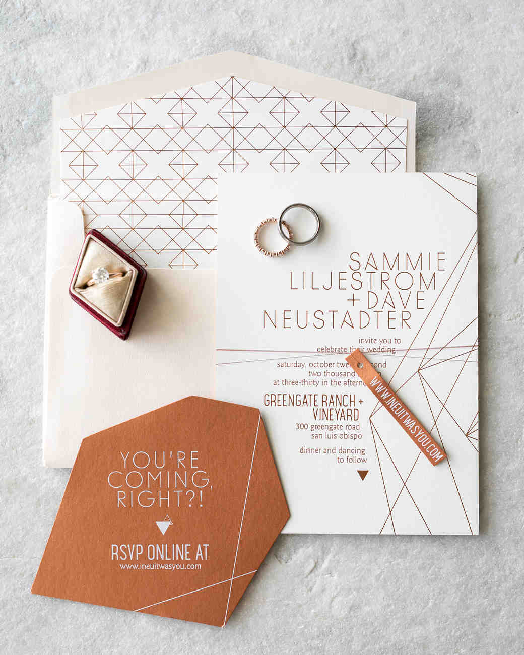 When Do I Send Out Wedding Invites: 28 Geometric Wedding Invitations With An Edge