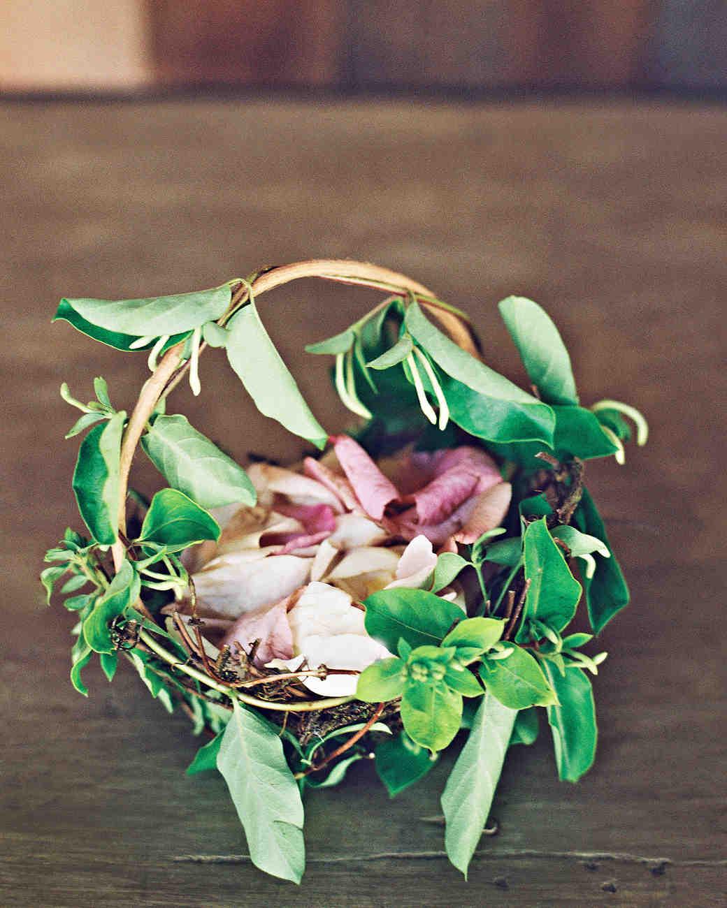 Farm Wedding tennessee flower girl basket