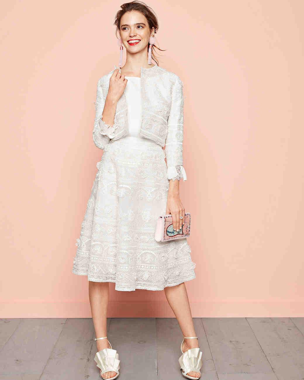 Little White Looks for Every Wedding Event | Martha Stewart Weddings