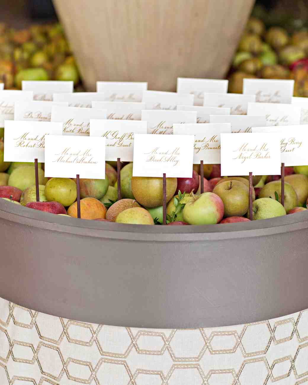 58 genius fall wedding ideas martha stewart weddings apple barrel place cards junglespirit Gallery