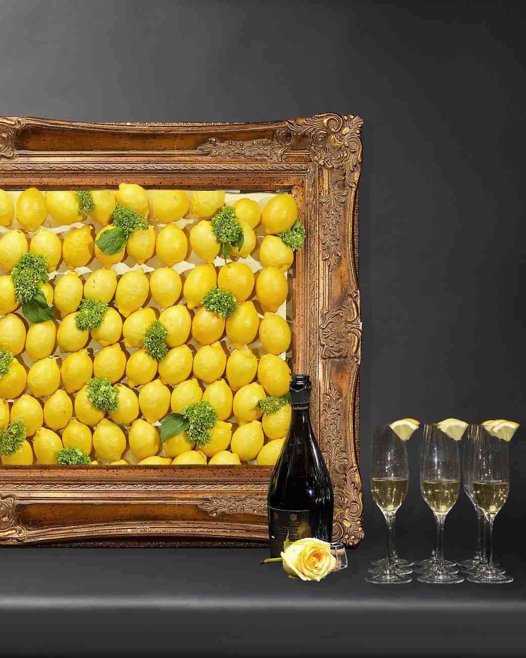 citrus centerpiece lemon frame