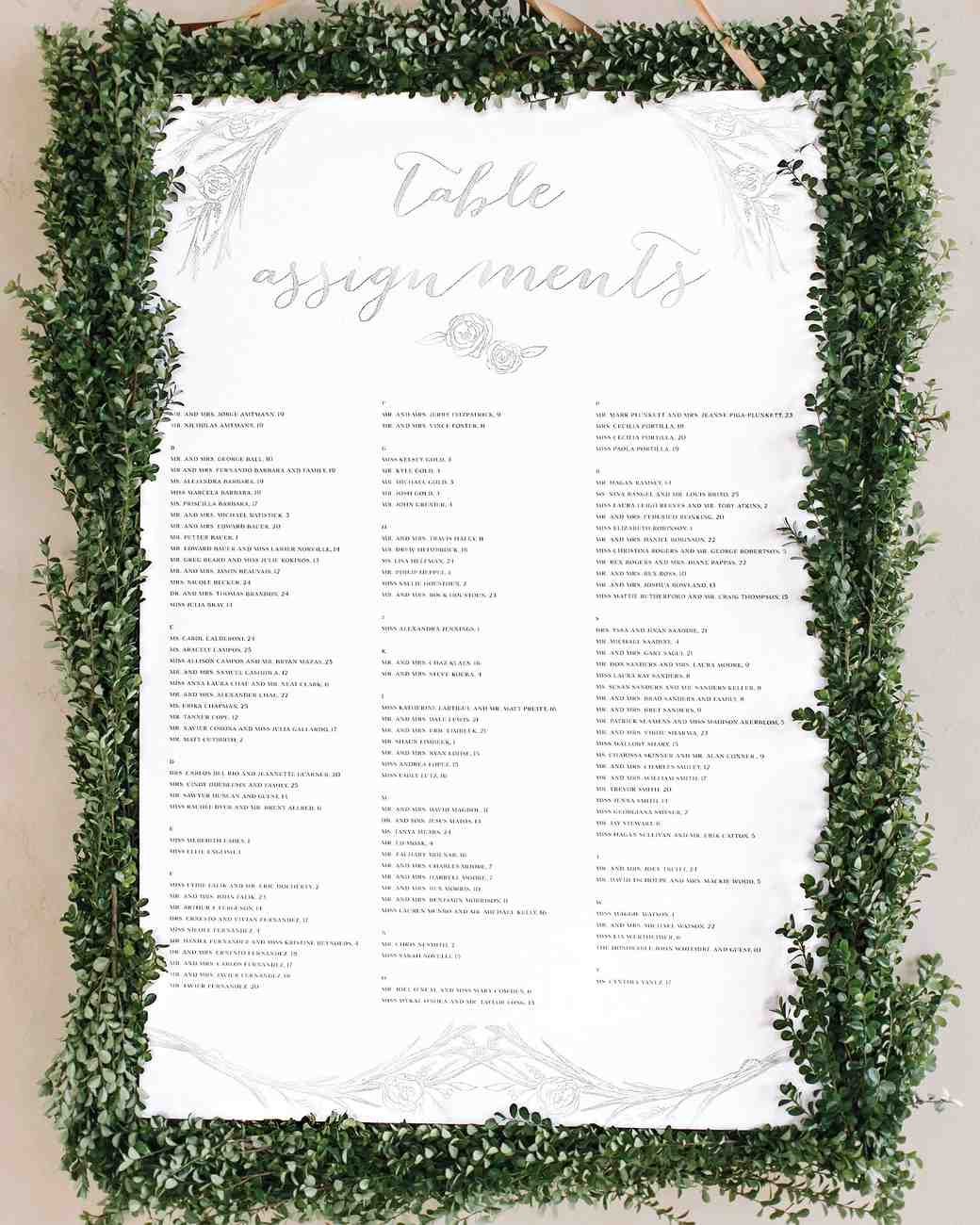 25 Unique Wedding Seating Charts To Guide Guests Their Tables Martha Weddings