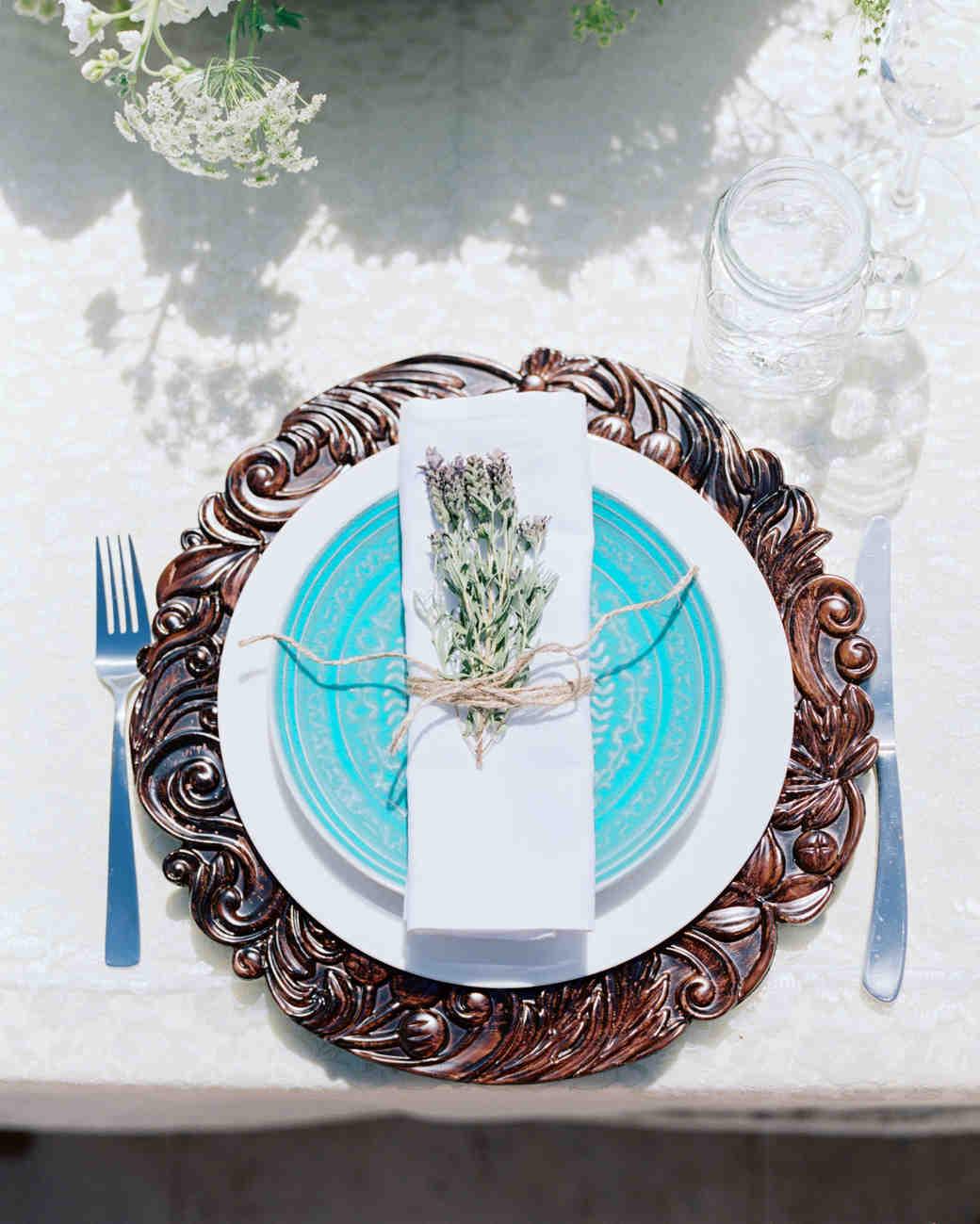 A Setup of a Wedding Plate