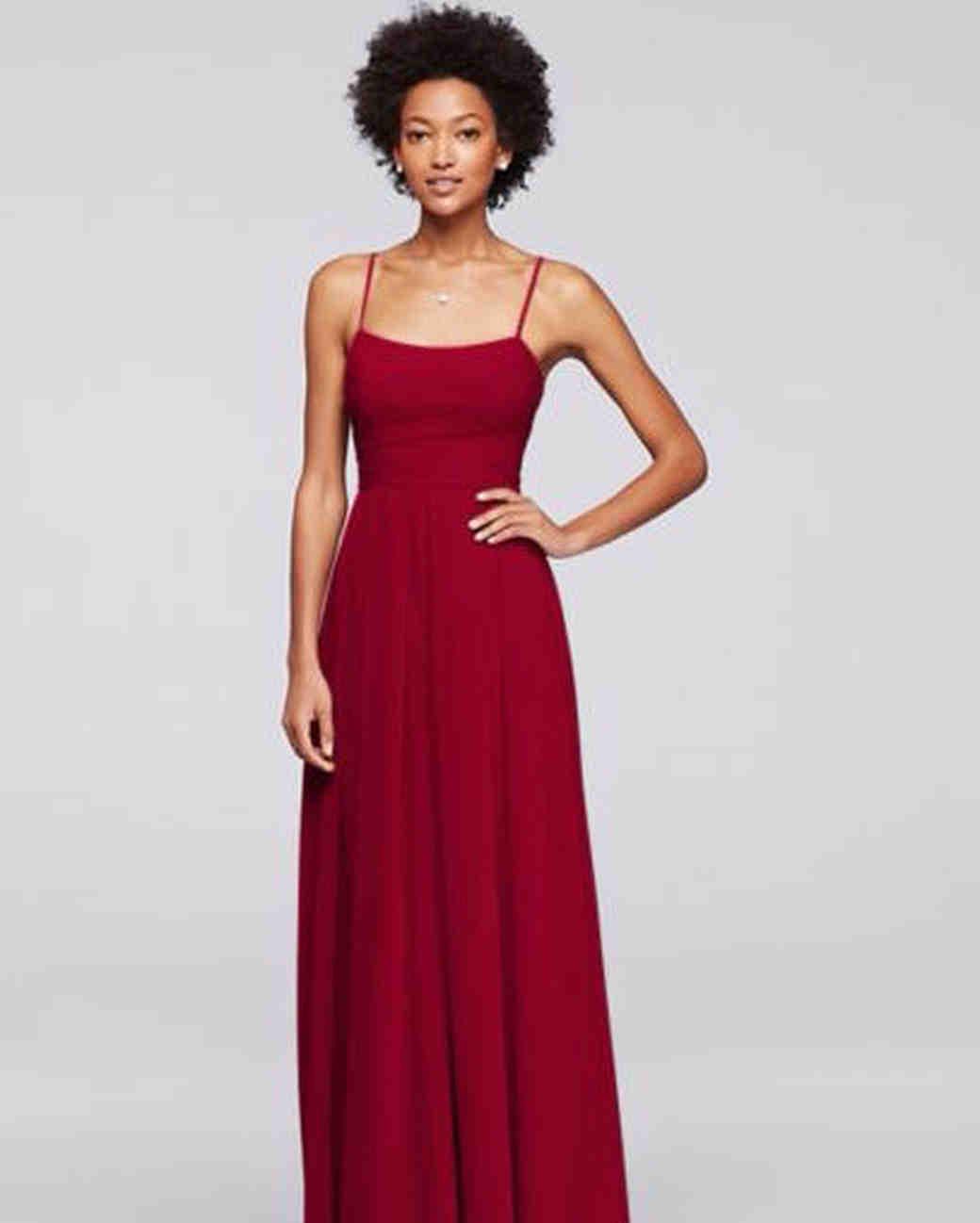 3b5206517d Spaghetti Strap Bridesmaid Dresses | Martha Stewart Weddings