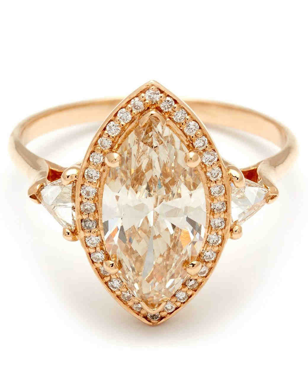 Anna Sheffield Marquise-Cut Be a Halo Engagement Ring