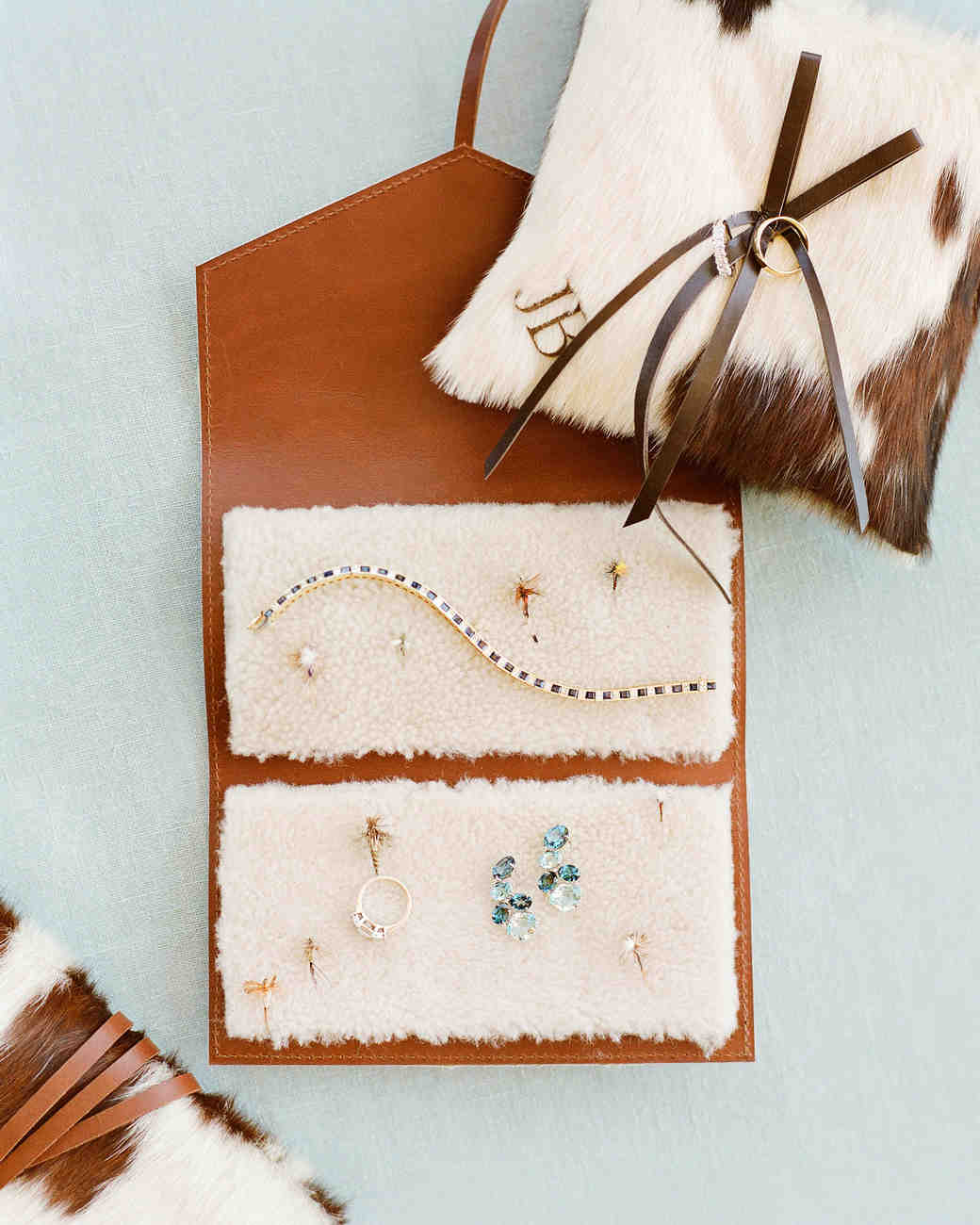 bessie john wedding jewelry ring pillow