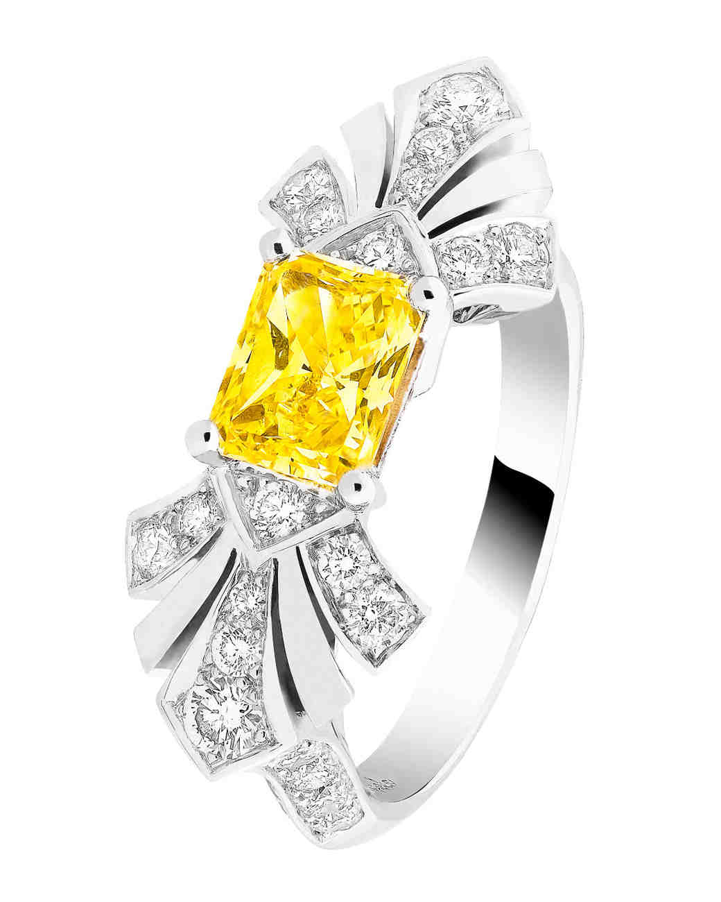 platinum color colored white pin yellow diamond ring canary fancy beautiful