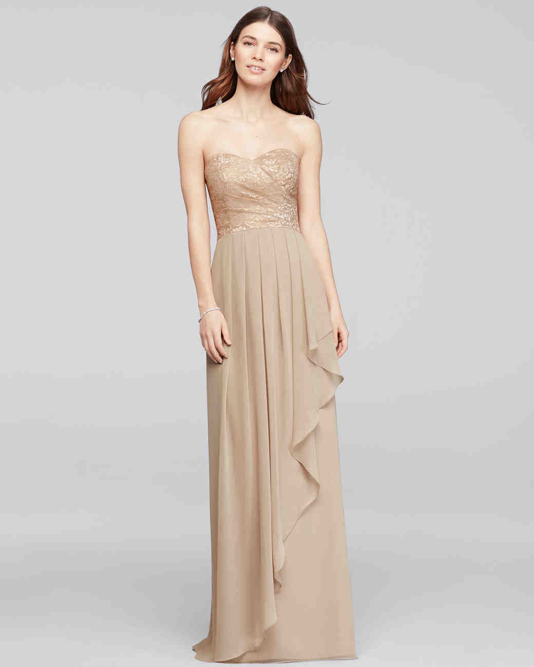 David's Bridal Chiffon Bridesmaid Dress