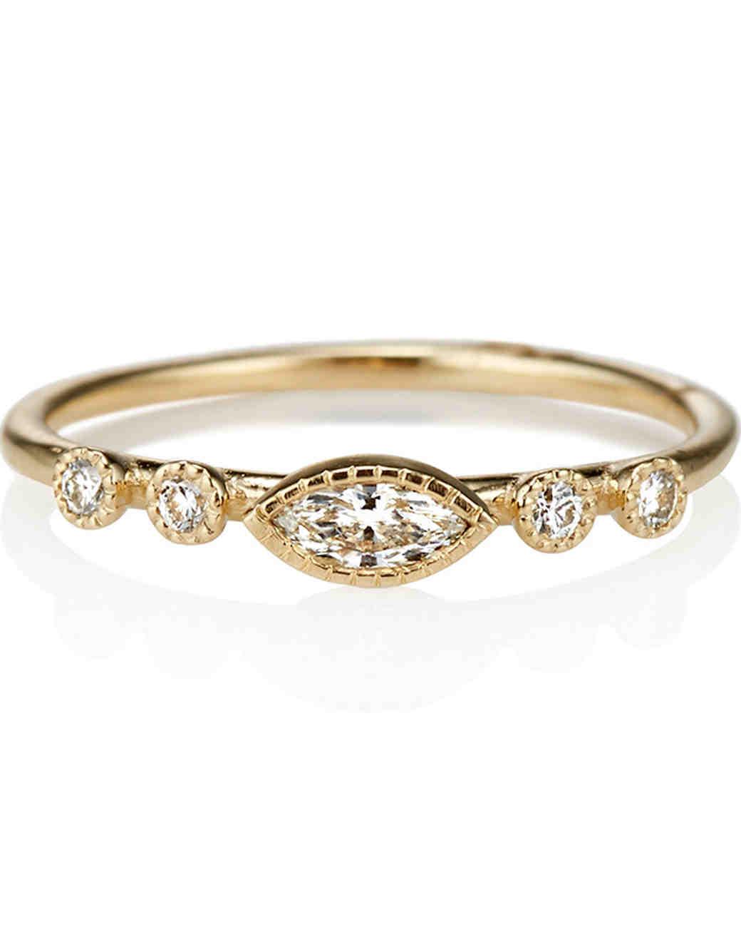 MarquiseCut Diamond Engagement Rings Martha Stewart Weddings