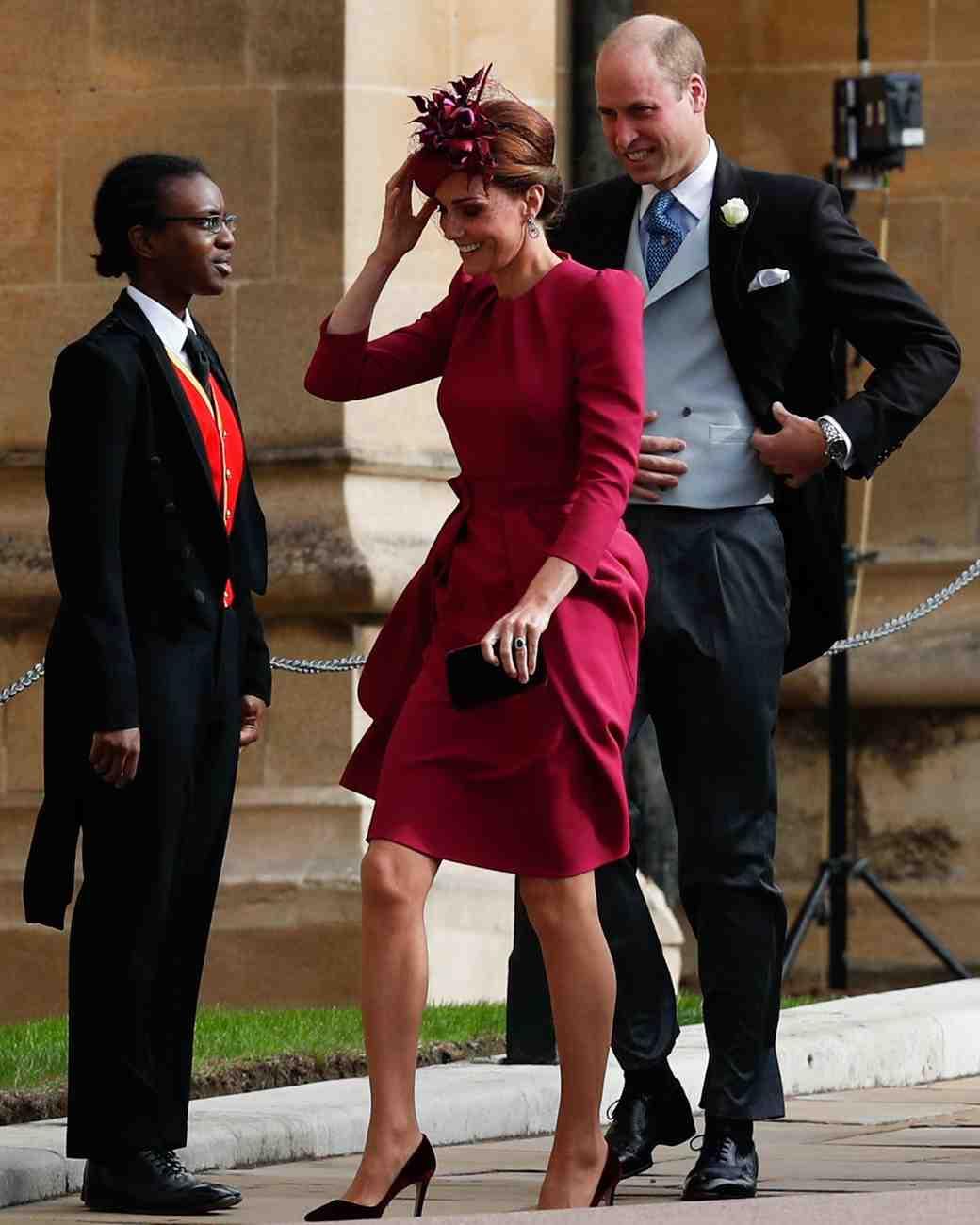 Kate Middleton and Prince William at Princess Eugenie's 2018 royal wedding