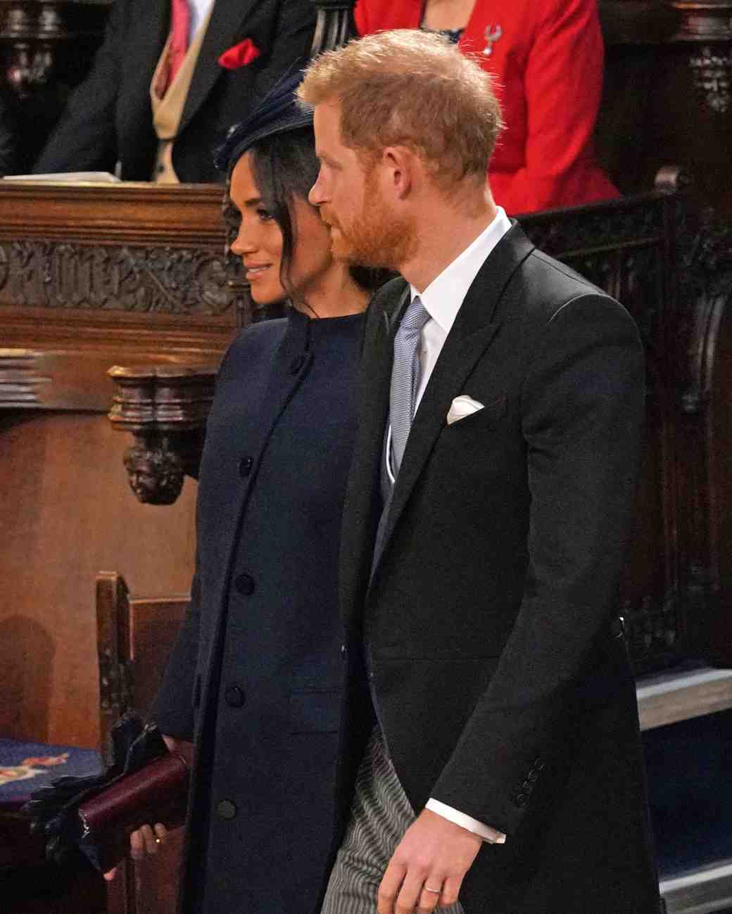 Meghan Markle and Prince Harry at Princess Eugenie's 2018 royal wedding