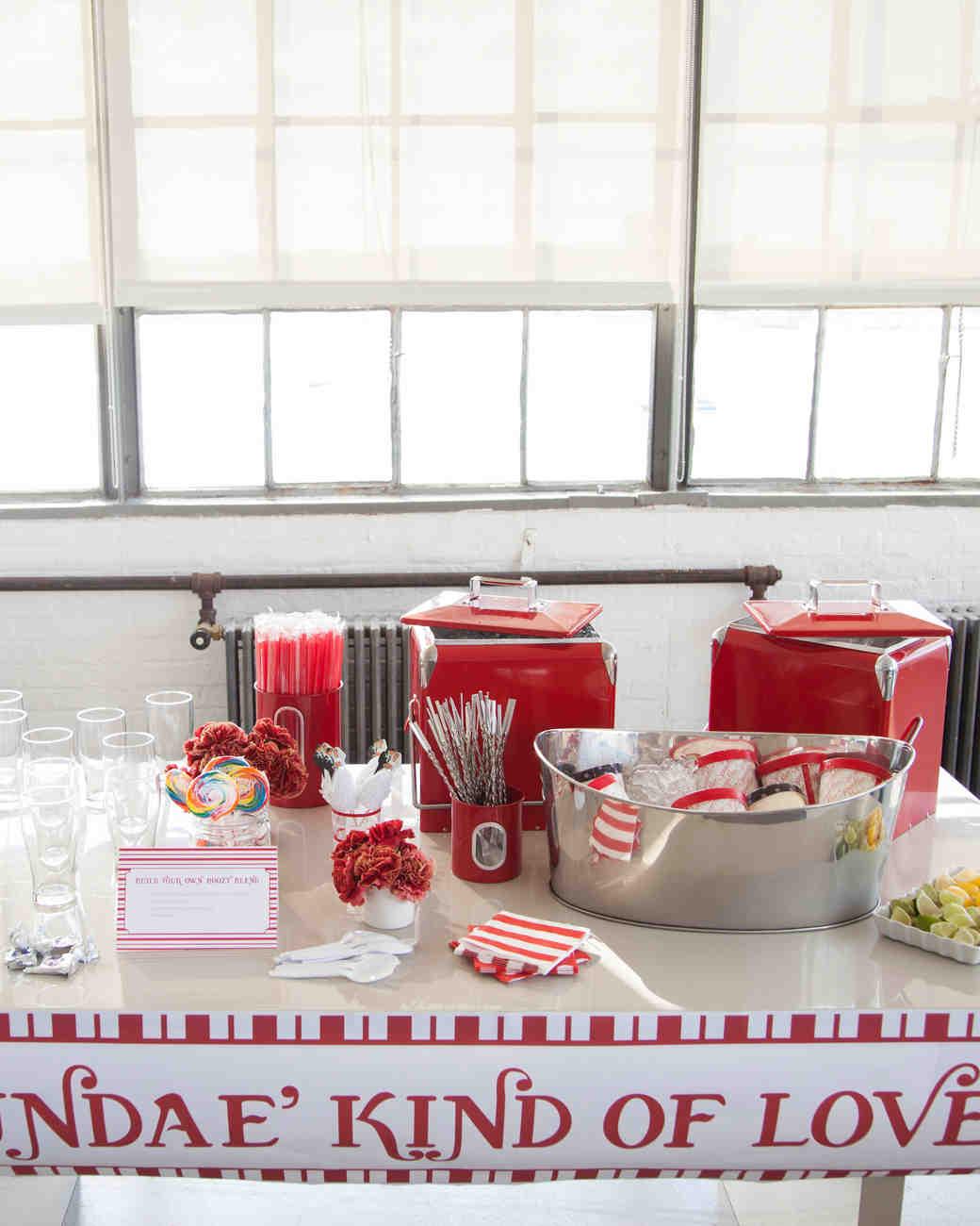 A Genius Bridal Shower Theme: A Retro Ice Cream Parlor | Martha ...
