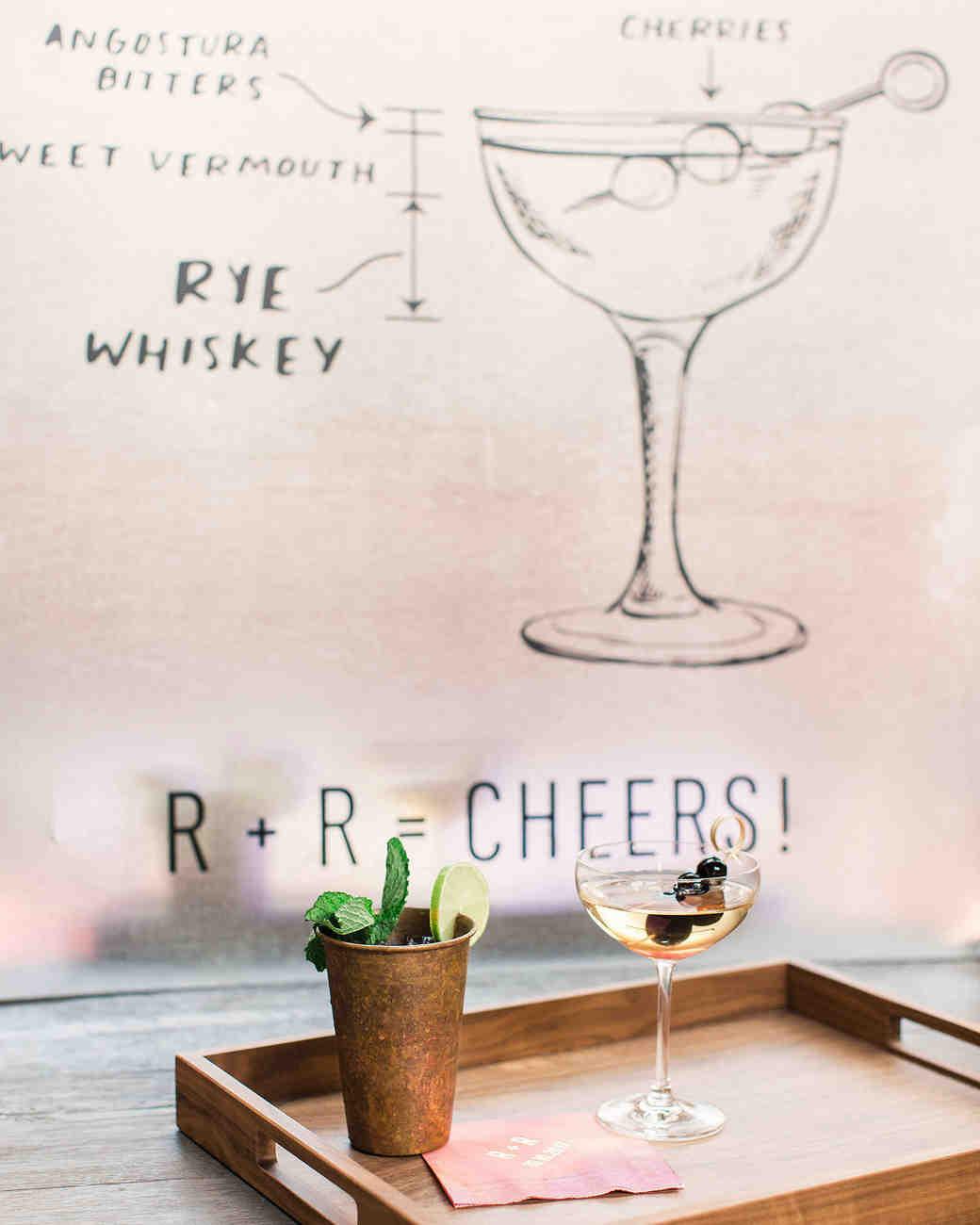 risa ross wedding brooklyn new york signature cocktails