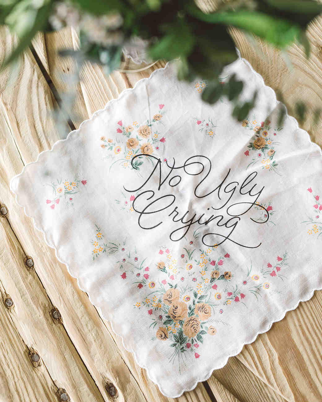 scalloped wedding decor no ugly crying handkerchief