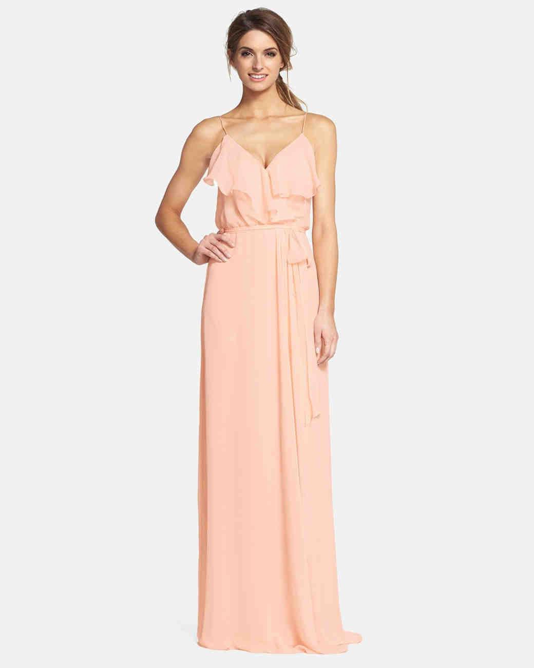 Spaghetti strap bridesmaid dresses martha stewart weddings ombrellifo Gallery