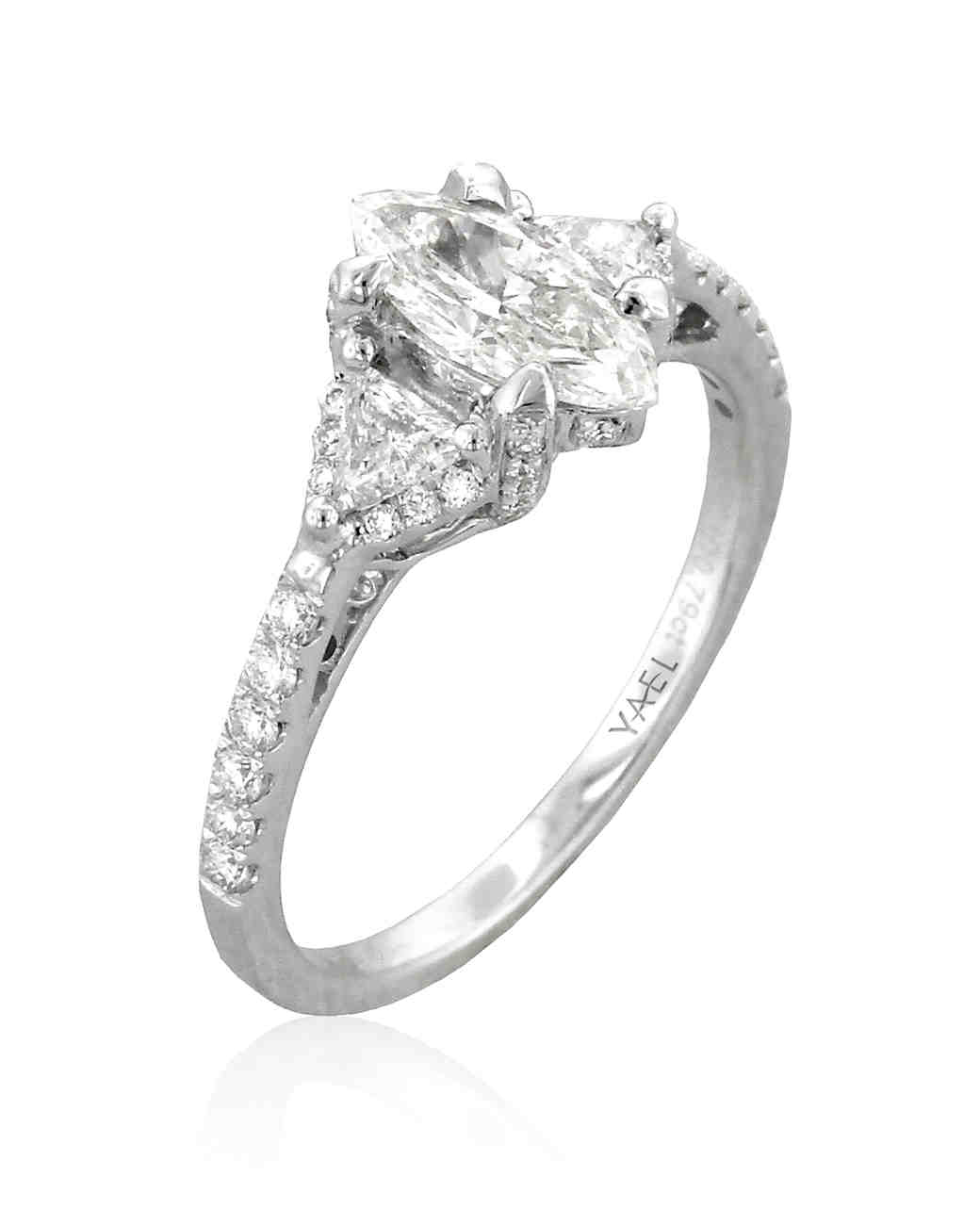 Yale Designs Marquise-Cut Engagement Ring with Diamond Shank