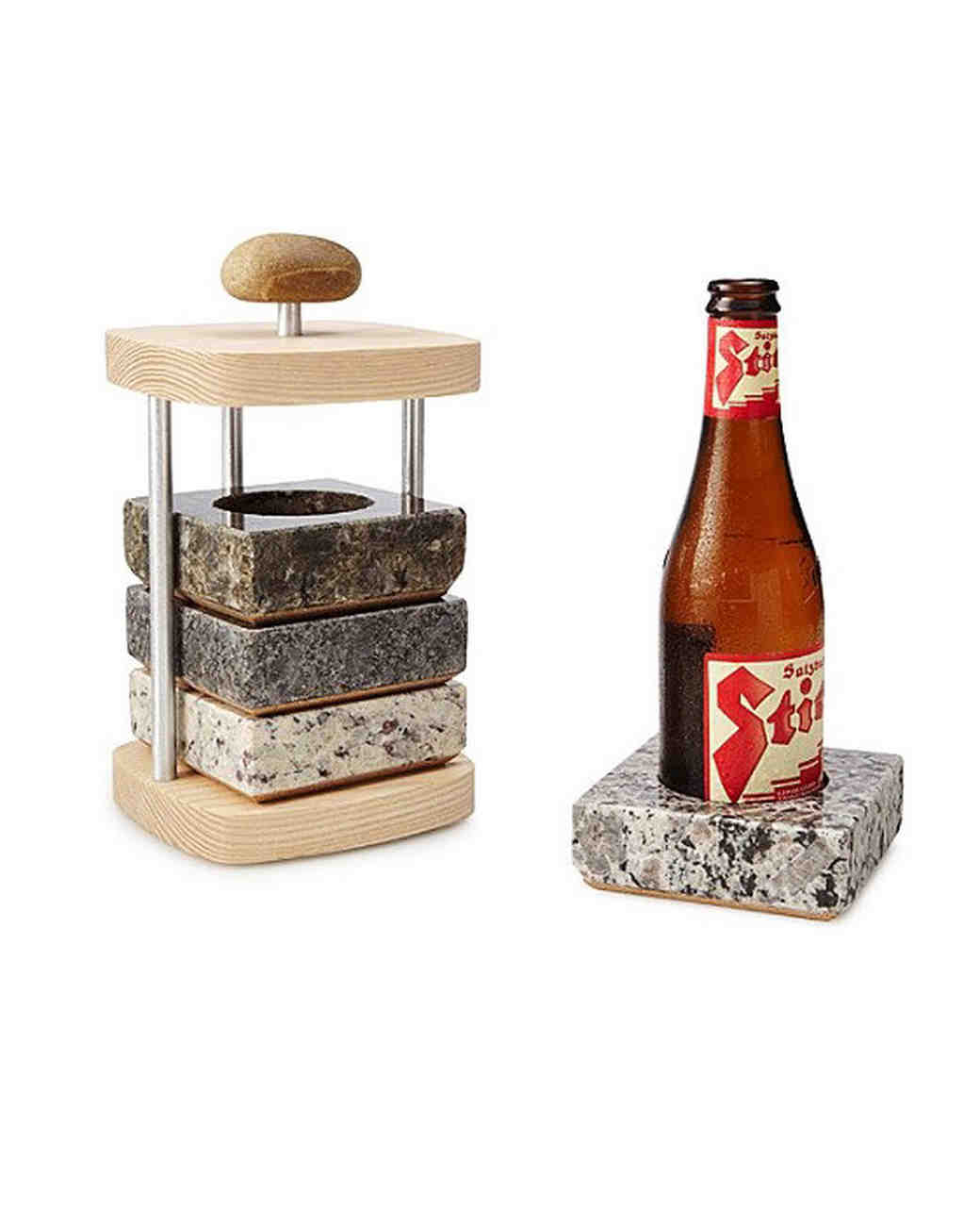 aluminum anniversary gift beer bottle coaster
