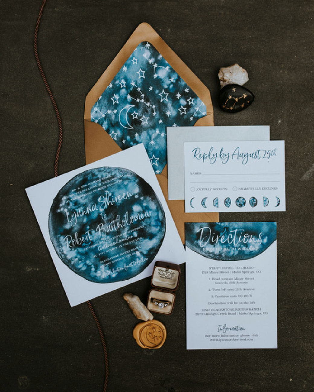 Celestial Wedding Invites